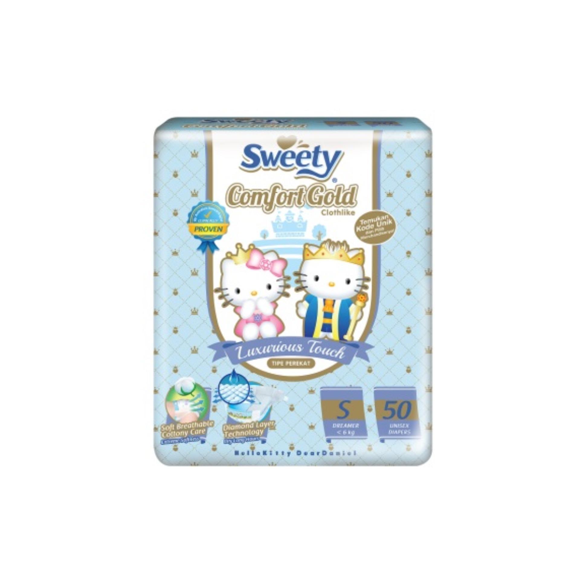 Beli Sweety Silver Pants Popok Bayi Dan Anak Unisex Diapers Tipe Comfort Gold Tape S 26 Mudah Digunakan Perekat S50 50