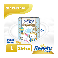 Sweety Open Comfort Gold L 6 X 44 S Diskon Indonesia