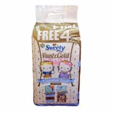 Spesifikasi Sweety Popok Bayi Pantz Royal Gold L 28 4 Lengkap Dengan Harga