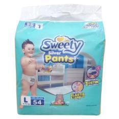 Jual Sweety Popok Bayi Silver Pants L 54 Import