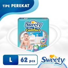 Jual Sweety Popok Silver Open Comfort L 62 Sweety Original