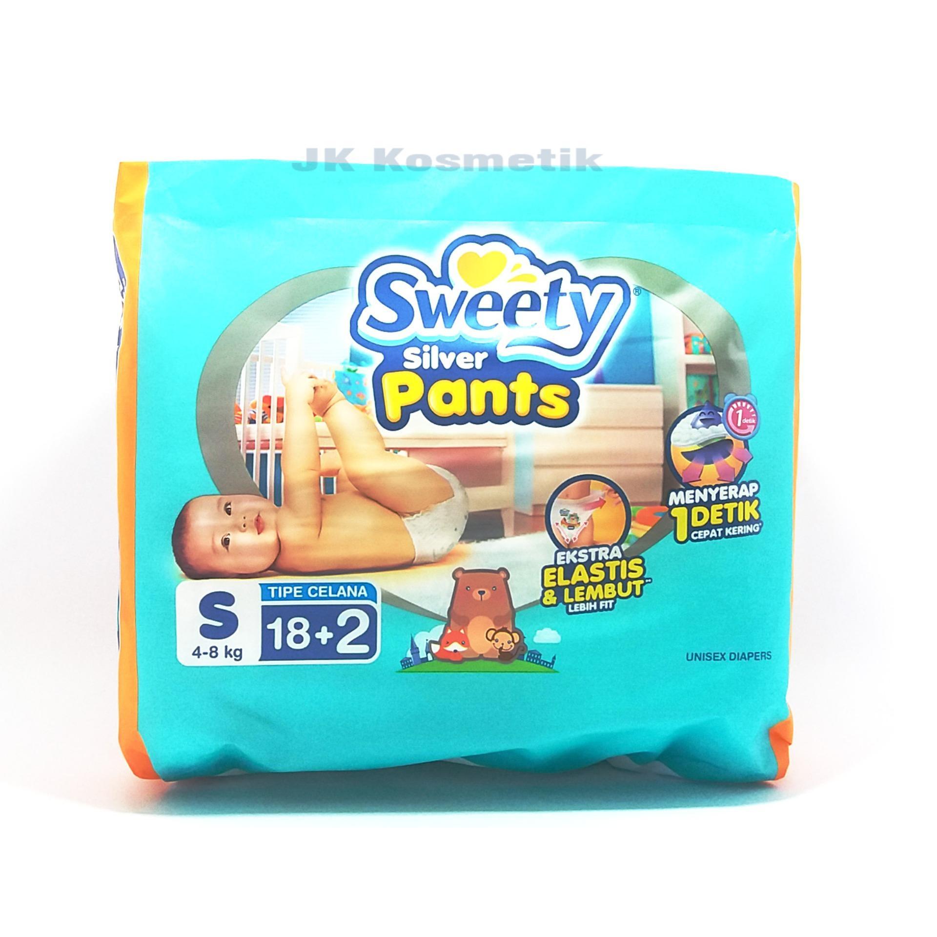 Beli Sweety Silver Pants Popok Bayi Dan Anak Unisex Diapers Tipe Baby Happy Body Fit Size L 30 Pcs Pampers S18