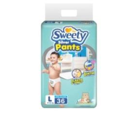 Ulasan Mengenai Sweety Silver Pants Popok Bayi Dan Anak Unisex Diapers Tipe Celana Size L 36 Pcs 2 Pack 72 Pcs