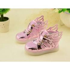 Promo Sz 21 30 Sepatu Led Anak Wings Pink Import Murah