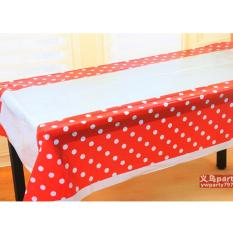 Table Cover / Taplak Meja Merah Polkadot