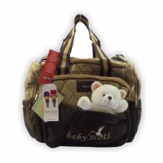 Tas Baby Travel Karakter Boneka (Baby Scots) - Coklat