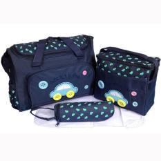 tas bayi kecil lazada tas baby tempat peralatan bayi tempat popok bayi tas bepergian untuk bayi peralatan baju bayi tas  bayi terbaik tas bayi cantik peralatan bayi laki laki tas untuk anak bayi tas buat tempat baju baju bayi kecil  Tas Bayi Navy 4 IN 1