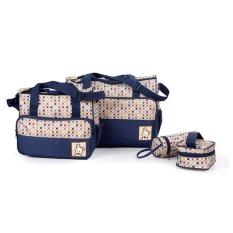 tas bayi untuk bepergian perlengkapan bayi tas popok bayi perlengkapan baby peralatan bayi tas bayi serbaguna lazada perlengkapan bayi tas perlengkapan baby tas untuk peralatan bayi tas baby lucu Tas Bayi Biru Polka 5 IN 1