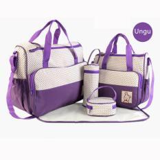 tas bayi untuk bepergian perlengkapan bayi tas popok bayi perlengkapan baby peralatan bayi tas bayi serbaguna lazada perlengkapan bayi tas perlengkapan baby tas untuk peralatan bayi tas baby lucu Tas Bayi Ungu 5 IN 1