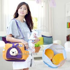 Tas Perlengakapan Bayi Kelinci Cintaka/Tas Diapers/susu/Tas bayi/Baby Diaper Bag BY 06 - Orange
