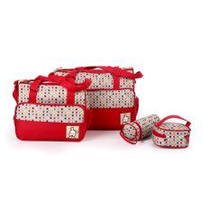 tas tempat baju bayi tas buat bayi tas bayi besar tas perlengkapan anak tas tempat perlengkapan bayi tas baju anak aneka tas bayi model tas untuk pakaian bayi  Tas Bayi Merah Polka 5 IN 1
