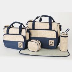 tas untuk bayi tas bayi buat jalan jalan tempat baju bayi model perlengkapan bayi importir perlengkapan bayi diaper bag tas bayi yang bagus tas bayi yang bagus peralatan bayi lazada model tas bayi unik diaper bag yang bagus  Tas Bayi Navy 5 IN 1