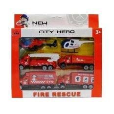 Harga Tata Toys Set Mobil Mobilan Pemadam Kebakaran Fire Rescue 666 8 Satu Set
