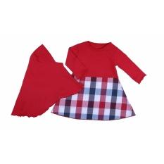 Harga Tdlr Body Suit Bayi Perempuan Set Pakaian Bayi Perempuan Baju Bayi Hijab Bahan Cotton Combed Red Square Hijab Ths 3037 Murah