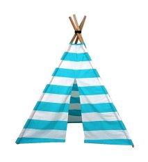 Jual Teepees 4 Legs Tenda Bermain Anak Teepee Tent Stripy Baby Blue Murah Indonesia