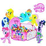 Jual Cepat Tenda Mandi Bola Ada Keranjang Kecil Motif Little Pony Pink