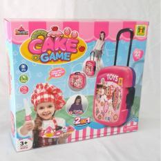 Terusjayatoys mainan anak cake game mainan koper mainan anak perempuan