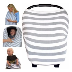 The Best Multi-Use Nursing Breastfeeding Cover, Soft & Stretchy- Baby Car Seat Canopy, Shopping Cart, Stroller, High Chair, Carseat Covers for Girls and Boys. Perfect Baby Shower Gift- Stripe - intl