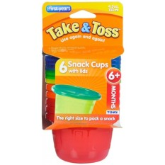 Jual The First Years Take Toss Snack Cup 6 Pack Multicolor Online