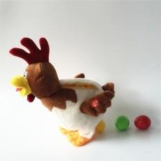 Ayam Bertelur Akan Bernyanyi dan Menari Plush Mainan Ayam Petelur Meletakkan Di Bawah Tahun Rooster Mainan-Internasional
