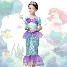 Jual Putri Duyung Kecil Ariel Anak Cewek Cosplay Kostum Halloween Gaun Princess Oem Online