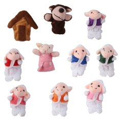 The Wolf and Seven Little Lambs Finger Puppets Nursery Rhyme/Fairy Tale - intl