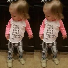 Balita Bayi Gadis Kaus Lengan Panjang Atasan Kasual Blus Pakaian Pakaian-Internasional