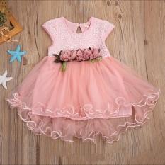 Anak-anak Balita Bayi Anak Perempuan Musim Panas Bunga Pakaian Putri Pesta Tulle Dresses