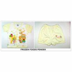 Tokusen Setelan Baju Pendek Motif Frozen Food Kuning - Uk.M