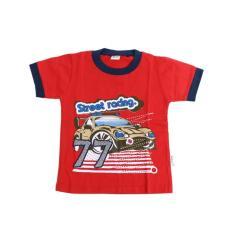 Homedepot Tom Pege Baju Kaos Anak Street Racing 77 Merah 96104