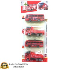 Tomindo Fire Truck isi 4 pcs - 168-203 / mobil pemadam isi 4 pcs / mobil mobilan / mainan anak