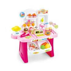 Tomindo Mini Market Playset Pink 668-24 / mainan anak / mainan supermarket / mainan anak laki / mainan anak perempuan / mainan dapur