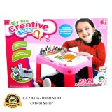 Harga Tomindo Toys My Fun Creative Table Meja Gambar Pink 8811 Satu Set