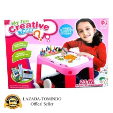 Jual Tomindo Toys My Fun Creative Table Meja Gambar Pink 8811 Tomindo Toys