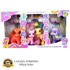 Tomindo Toys Pretty Horse LIttle Pony / Kuda Poni isi 4 pcs - 1082