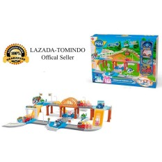 Tomindo Toys Robocar Parking Lot XZ323 / mainan anak / mainan set kendaraan / mobil mobilan
