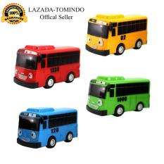 Tomindo Toys Tayo The Little Bus (1 dus is 4 pcs) - paking dus / Pull Back Car Play Set Mainan Anak Mobil Bis Karakter Tayo Rogi Lani Gani  - 9293 / 333-003