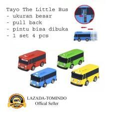 Tomindo Toys Tayo The Little Bus 1 set 4 pcs (ukuran besar + buka pintu + pull back) / mainan anak / mainan mobil mobilan / mainan anak laki