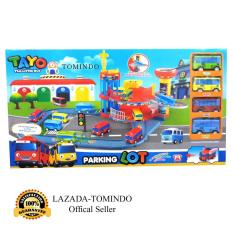 Tomindo Toys Tayo The Little Bus Parking Lot XZ609 / mainan anak / mainan mobil mobilan / tayo bus