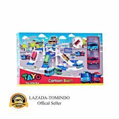 Spesifikasi Tomindo Toys Tayo The Little Bus Parking Lot Zy001 Mainan Anak Mainan Set Kendaraan Mobil Mobilan Murah