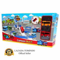 Tomindo Toys Tayo The Little Bus Parking Lot ZY003 / Mainan Anak / Mainan Set Kendaraan / Mobil Mobilan