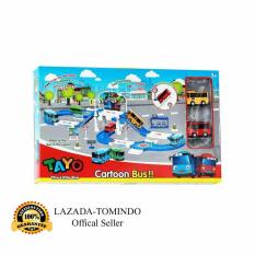 Tomindo Toys Tayo The Little Bus Parking Lot ZY004 / Mainan Anak / Mainan Set Kendaraan / Mobil Mobilan