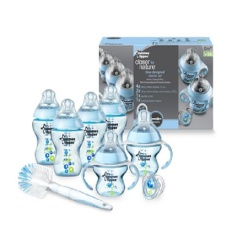 Jual Tommee Tippee Closer To Nature Decorated Bottle Starter Set Biru Branded