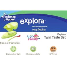 Spesifikasi Yooberry Tommee Tippee Explora Twin Taste Set Mangkuk Makan Bayi Terbaru