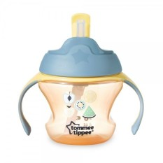 Spesifikasi Tommee Tippee Training 1St Straw Cup For Baby 9M Orange Fruit Yang Bagus