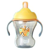 Iklan Tommee Tippee Training Straw Cup 9M Orange Apple