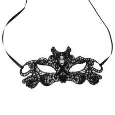 Topeng Party Pesta Wanita - Mask New Branded - Topeng Renda A1- Hitam