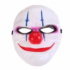 Topeng Pesta - Topeng Pria Wanita - Topeng Halloween - Topeng Party -  Party Mask MasquWholesale PVC Scary Clown Mask Payday Halloween Mask For Party Mascara Carnaval - Mask 03 - White