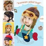 Topi Bayi Pilot Hat Promo Beli 1 Gratis 1