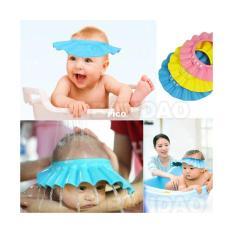 Topi Keramas Anak Pelindung Mata Shower Cap Bayi Balita kids baby hat - 2pcs
